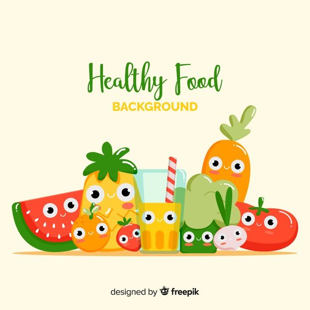 Cute healthy food background Free Vector | free in 2019