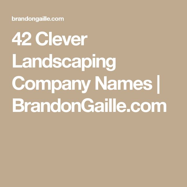 17 best ideas about landscape companies on pinterest for Landscaping company names