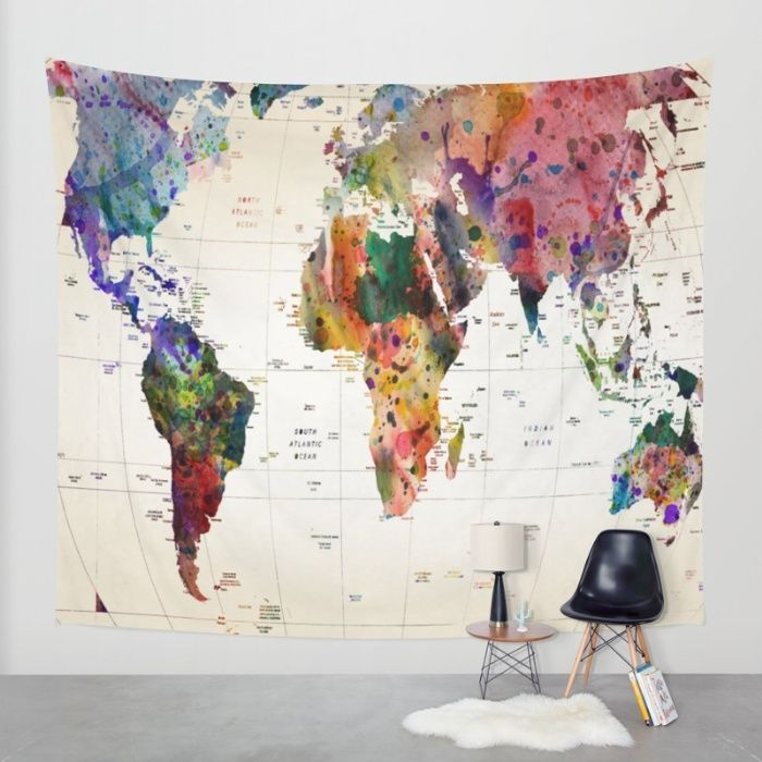 Buy map Wall Tapestry by mark ashkenazi. Worldwide shipping available at Society6.com. Just one of millions of high quality products available.