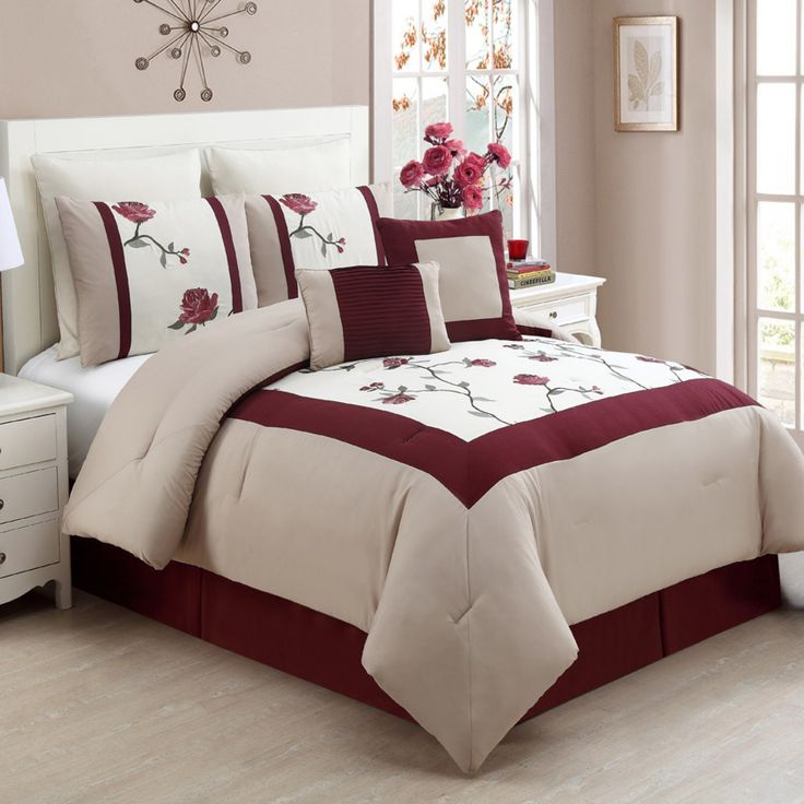 trousdale 8piece comforter set red quiet nights with tea and a great book are bedroom comforter books