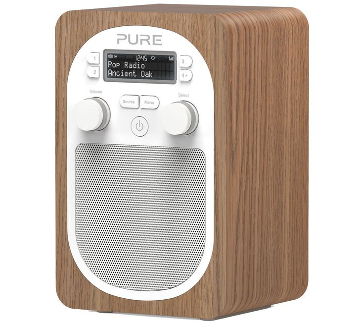 PURE  Evoke D2 Portable DAB Radio - Oak Price: £ 74.99 The compact oak-finished Pure Evoke D2 Portable DAB Radio features FM and DAB radio tuners and offers the option to connect your smartphone or MP3 player. Premium sound quality Enjoy endless radio options with both DAB and FM tuners on the Pure Evoke D2 . There are also 10 preset radio channels and four direct access buttons so you can...