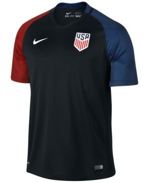 Nike Kids' Usa National Team Away Stadium Jersey - Black M