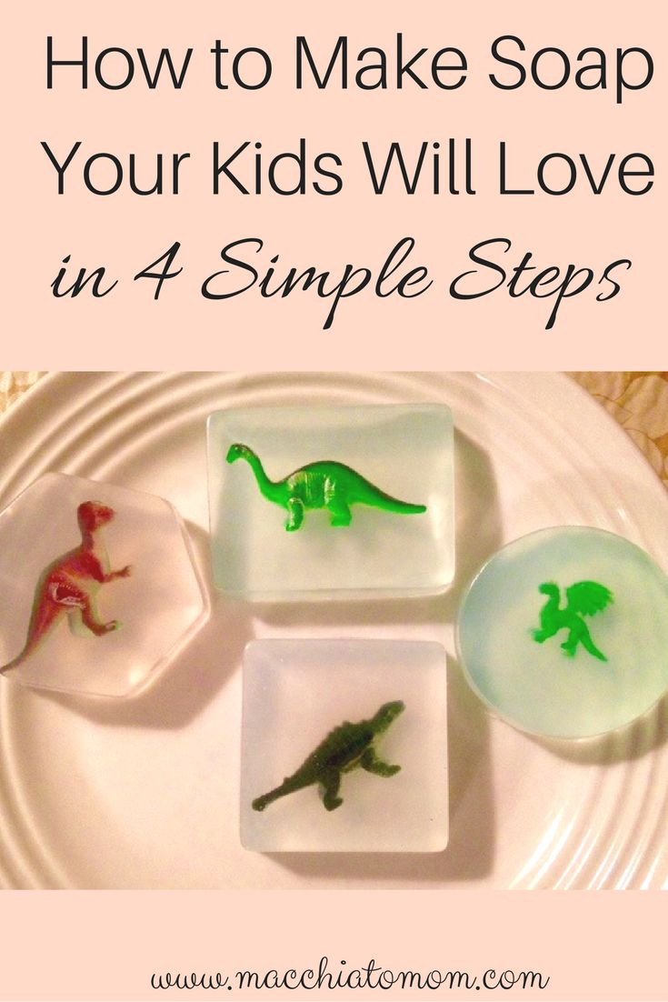 Homemade soap is easier than you thought! My kids love this soap and you can make it too in 4 easy (inexpensive) steps.
