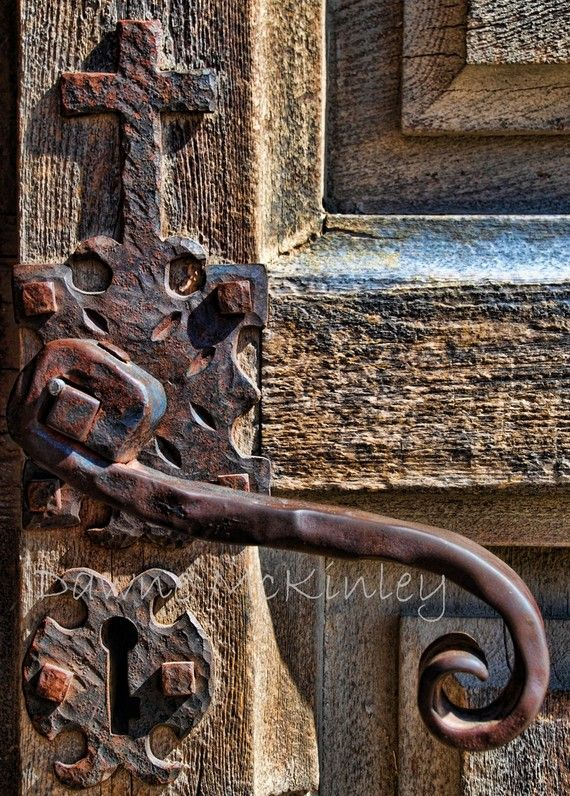 Photo by Dawne Photography. Is this beautiful handle on a church door?