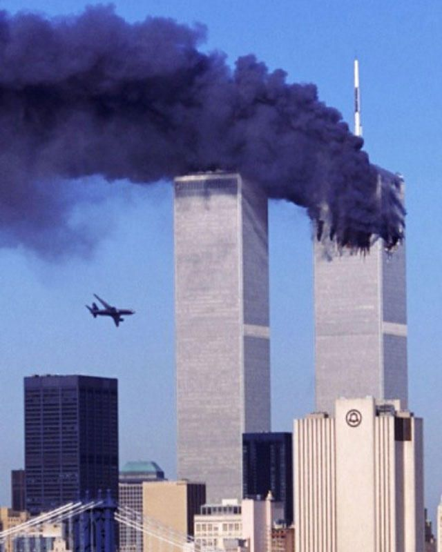 """""""None of us will ever forget this day, yet we go forward to defend freedom and all that is good and just in our world."""" George W. Bush, 9.11.01"""