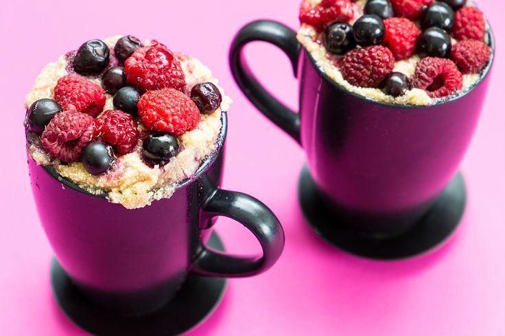 Wil je gezond eten, maar heb je weinig tijd? Dan is dit receptje ideaal voor jou. Met deze mugcake heb je een gezond ontbijt in 1,2,3.