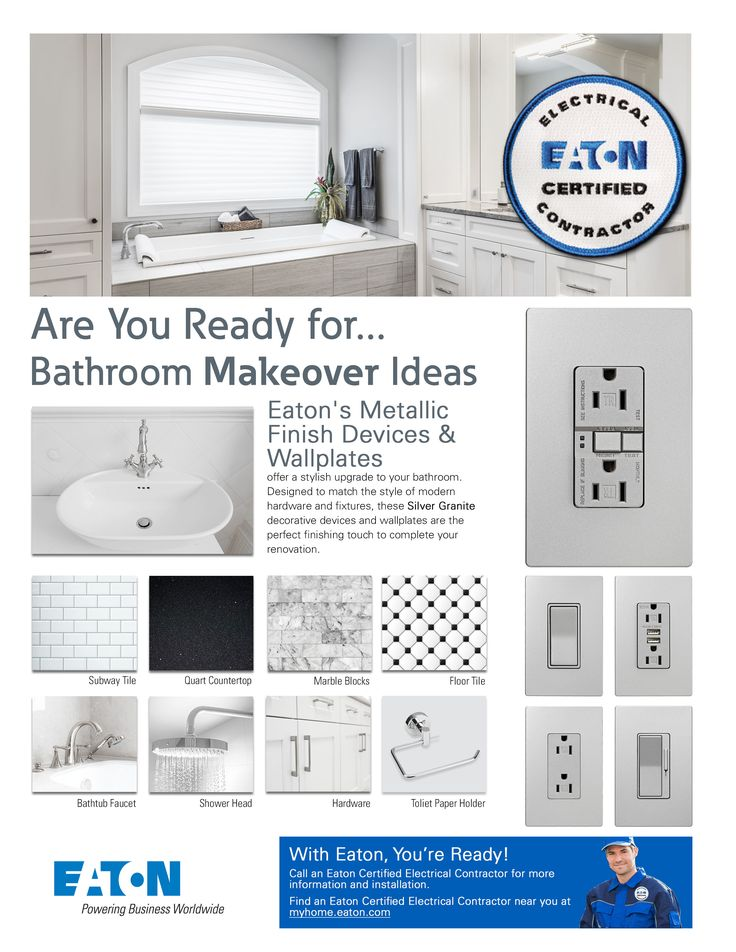 eatonu0027s metallic finish devices u0026 wallplates offer a stylish upgrade to your bathroom designed to