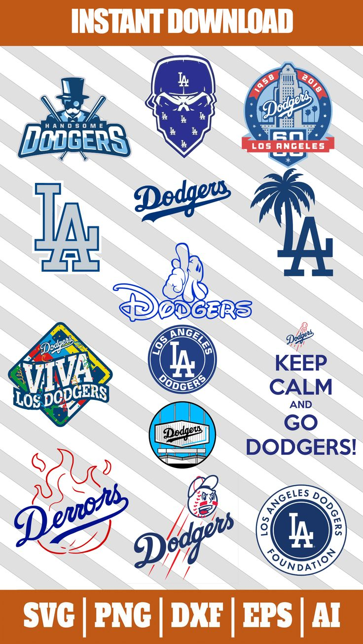 los angeles dodgers logo svg files for cricut in 2020