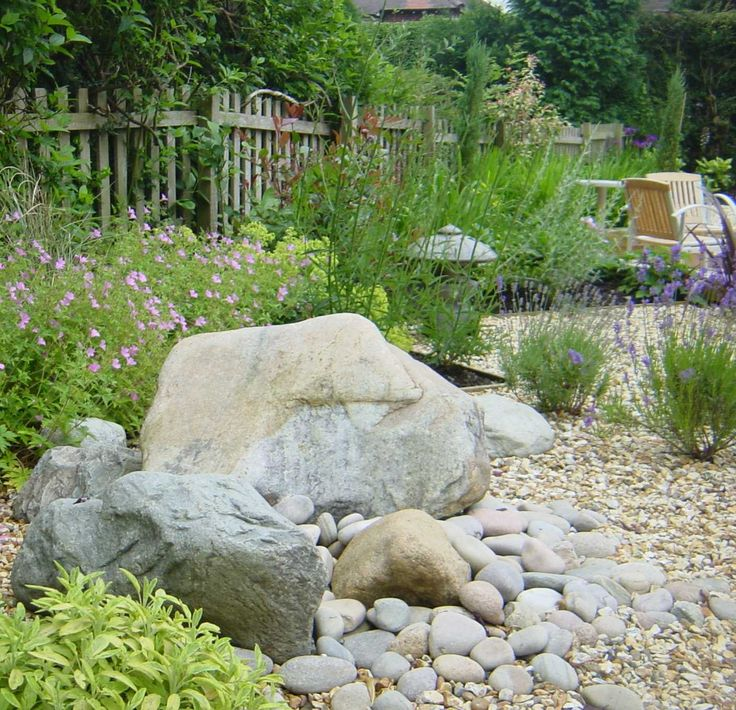 i love rock gardens mixed with various ground covers