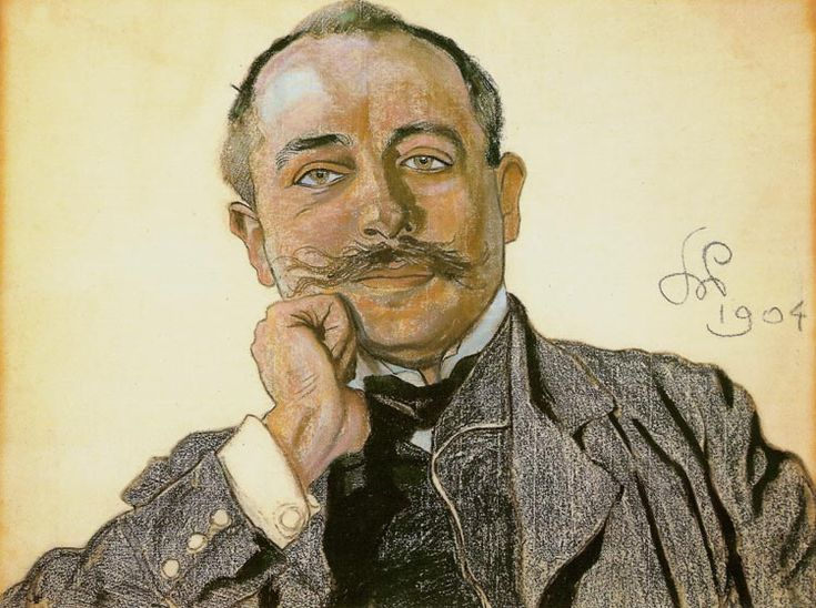 "Stanisław Wyspiański (Polish 1869–1907) ""Portrait of Julian Nowak"", 1904, pastel, 46.5 x 61.5 cm, private collection."