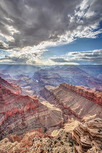 Grand Canyon National Park - Arizona. 1,217,403.32 acres.  Carved out by the Colorado River, the canyon is 277 miles long, up to one mile deep and up to 15 miles wide.  Millions of years of exposure has formed colorful layers of the Colorado Plateau in mesas and canyon walls.