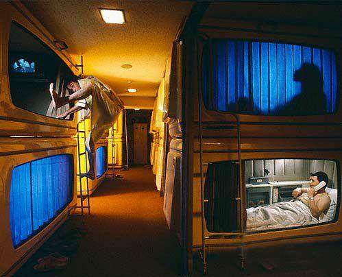 Japan's capsule hotels.