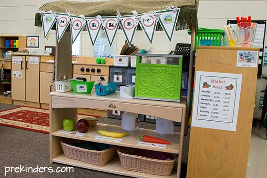 Grocery Store Dramatic Play Center at PreKinders.com