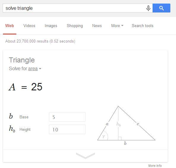 Google Geometry Calculator