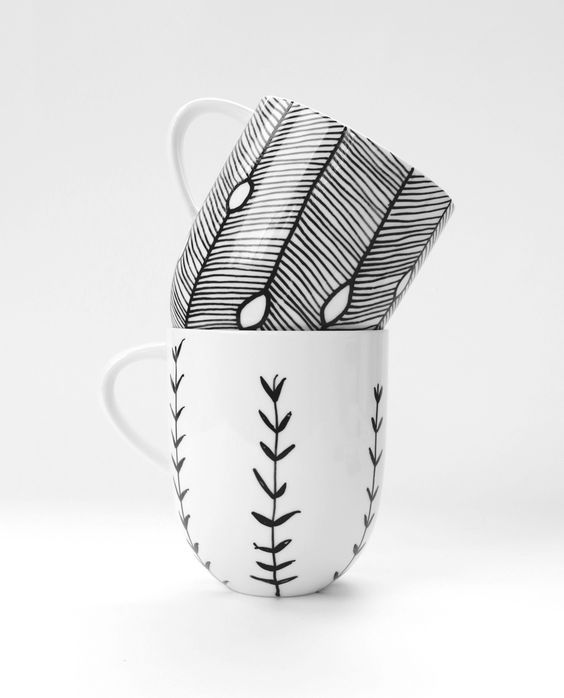 Inspiration: 10 Ideas to decorate your mugs