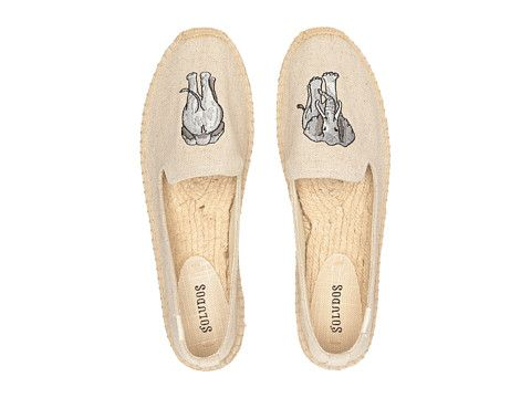 Soludos Elephant Embroidered Smoking Slipper
