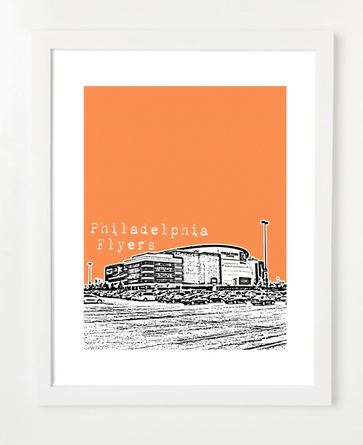 philadelphia flyers poster nhl stadium series art print city skyline series 8x10