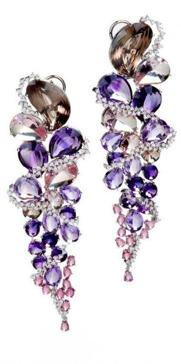 Variety of Brazilian gems in 18K gold with diamonds by Brüner