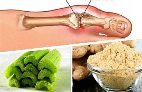 Remède au gingembre et au céleri pour éliminer les cristaux d'acide urique - Améliore ta Santé