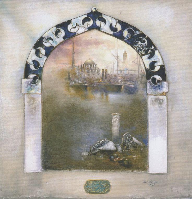 TİMUR KERİM İNCEDAYI - Selim Camii - Karışık teknik, 150x150cm, 2013 - Batı'nın İzdüşümleri: İstanbul