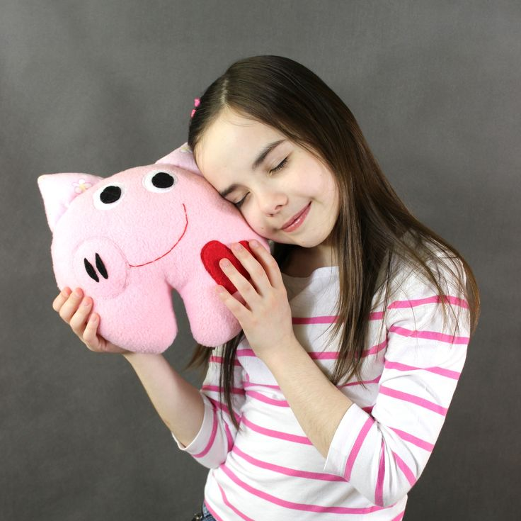 Świnka - przytulanka, mini poduszka-rękodzieło / Pig - hand made toy, minipillow