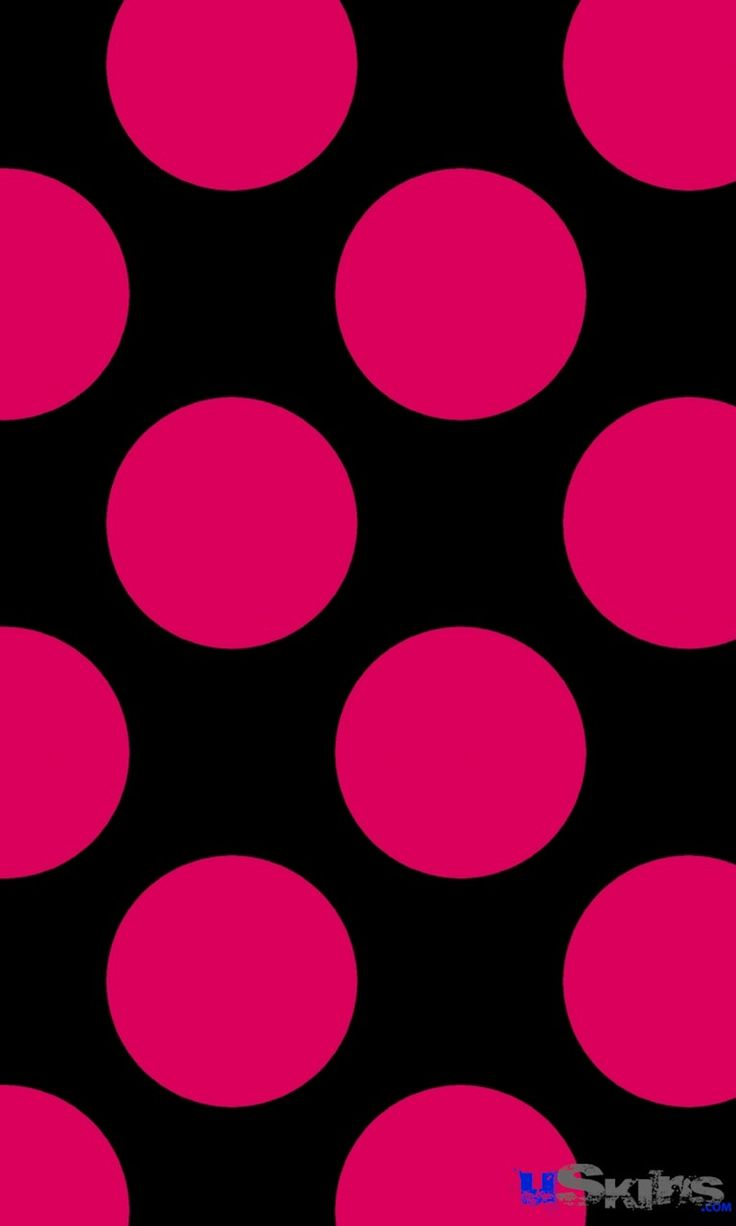 Chevron Wallpaper For Iphone 5 Black And Pink Polka Dot Backgrounds Free Wallpaper