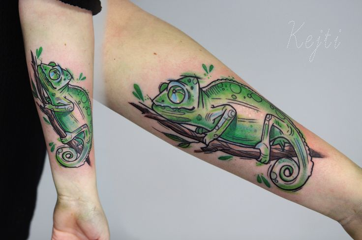 Chameleon Sketch Tattoo byKatarzyna Dumka. Follow me on instagram k.dumka  #chameleon #tattoo #tattoos #ink #inked #art #watercolor #aquarella #colored #animals #animal #sleeve #arm #women #inspirations #drawing #dumka #artist instagram k.dumka