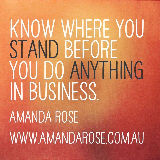 Stand for something! #amandarose #businessquotes