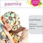 Jilbab Segi Empat Flower Pasmira