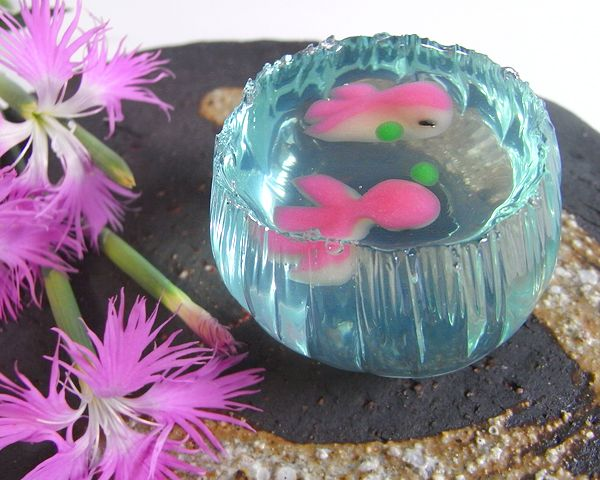 Japanese Sweets...an art form, the fish bowl wagashi (Japanese Sweets)