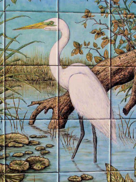 17 b sta bilder om hand painted tiles tile murals for Decorative tile mural