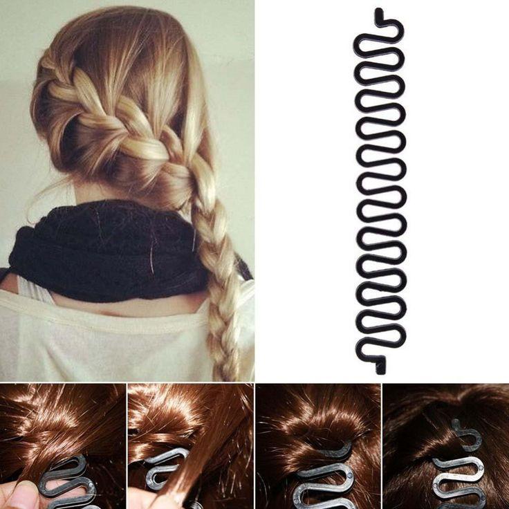 1PCS Fashion women High quality latest twist handmade hair centipede Clip braided hair clip Free shipping