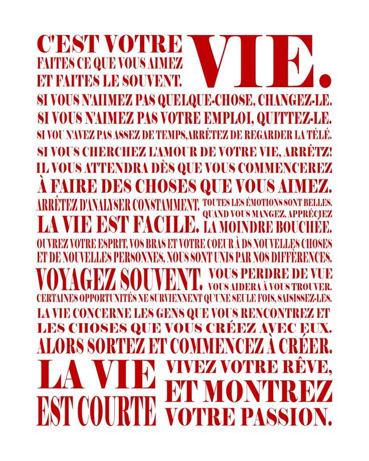 Life ... la vie en francais :-)