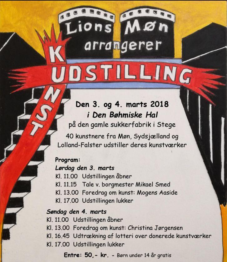 Lions Clubs kunstudstilling i Stege
