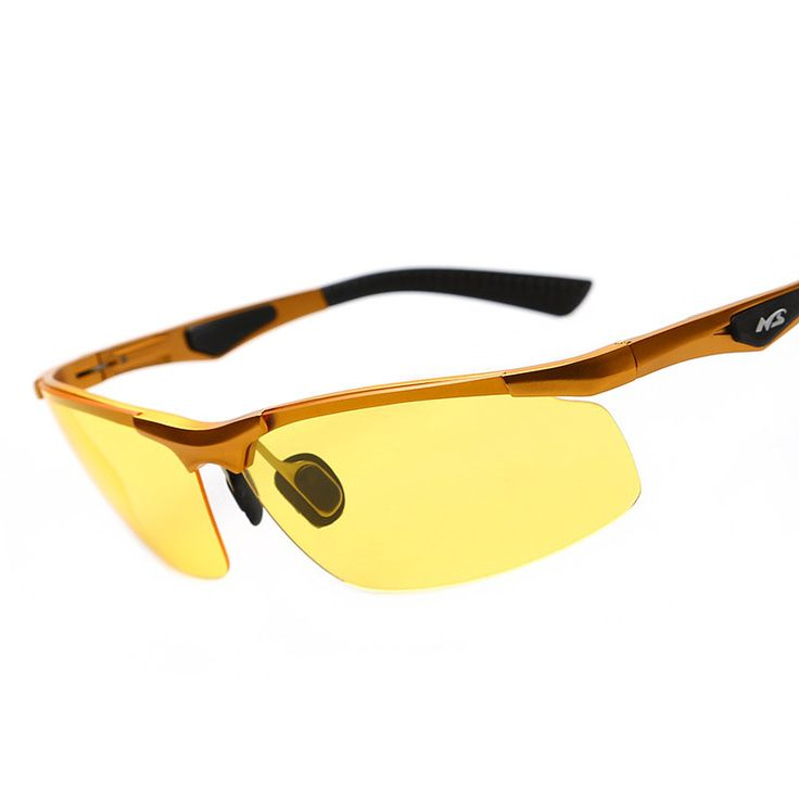 Yellow Lens Night Vision Goggle Polarized Sunglasses Men Luxury Brand Aluminium Magnesium Frame For Outside Driving Glasses