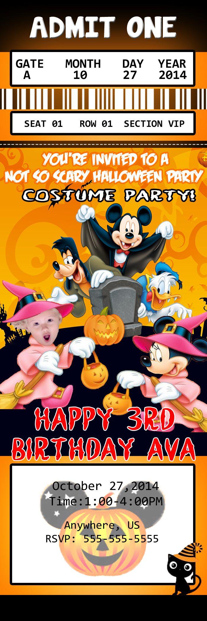80 best Halloween Invitations, Halloween Birthday Party ...