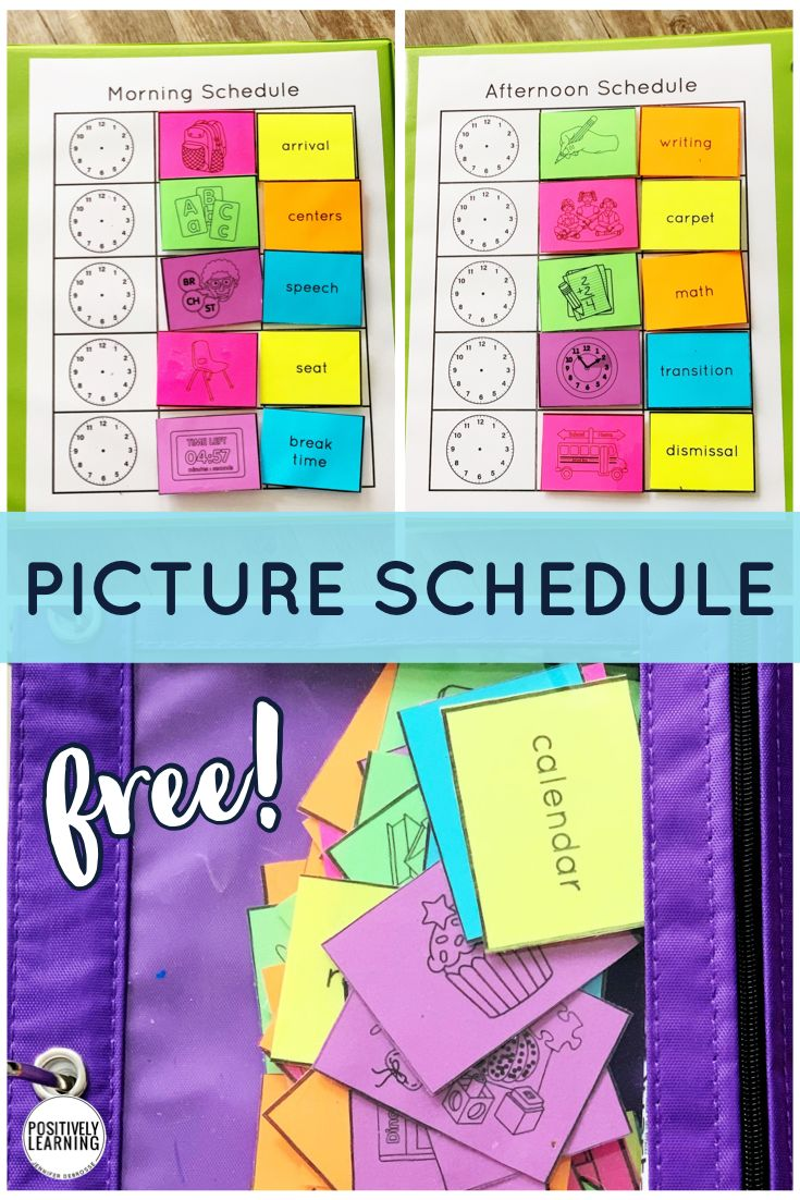 Picture Schedule in 2020 Picture schedule, Positive