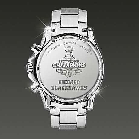 NHL® Chicago Blackhawks® 2010 Stanley Cup® Champions Watch - detail - back
