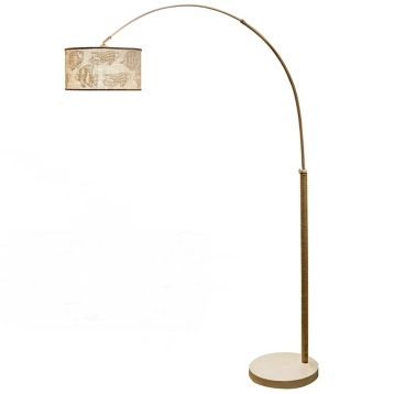 Ono Rope-Wrapped Arc Floor Lamp | Kirklands