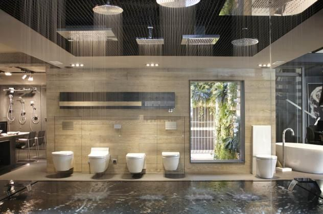 Sanitary ware showroom design google search sanitary for Bathroom decor and tiles midland