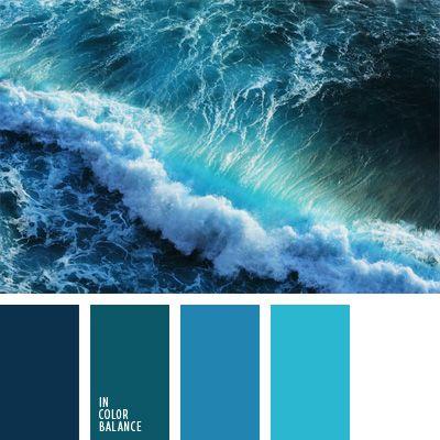 color agua oceánica, color aguamarina, color azul aguamarina, color azul tormenta, color mar tormentoso, combinaciones de colores, elección del color, matices de colores azul oscuro y celeste, matices del azul oscuro, monocromo, paleta de colores monocromática, paleta del color azul