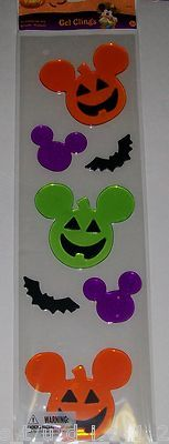 Mickey Halloween window gels -- I've never seen these before and I am a big one for decorating EVERY surface.  LOL.