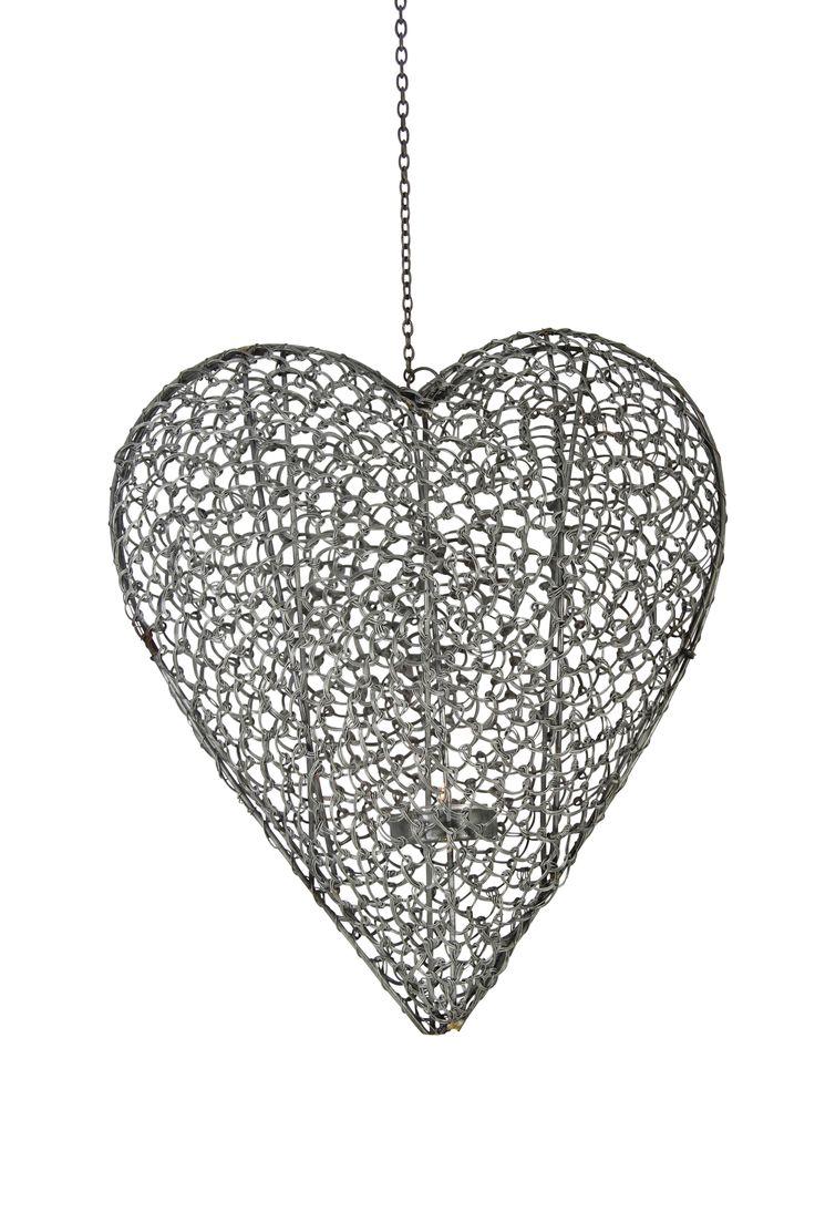 Zincato wire tealight heart www.earlysettler.com.au