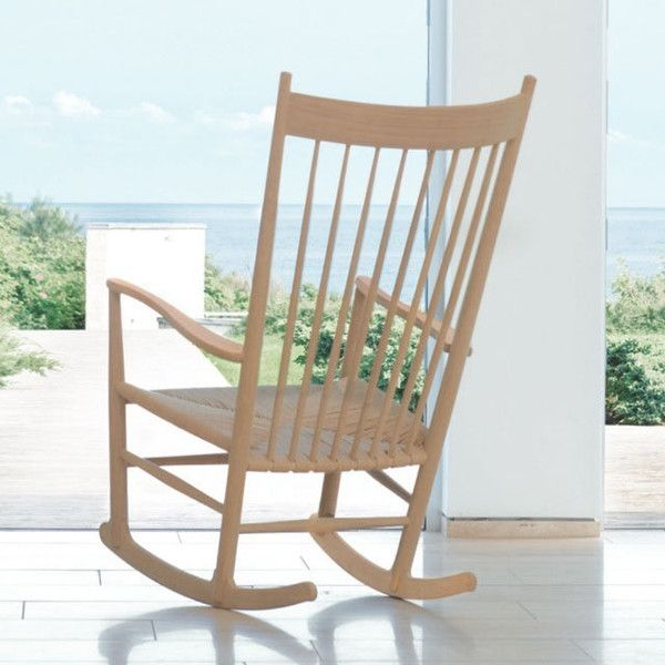 Wegner J16 Rocking Chair - love the chair & wish I had the porch with the view too!