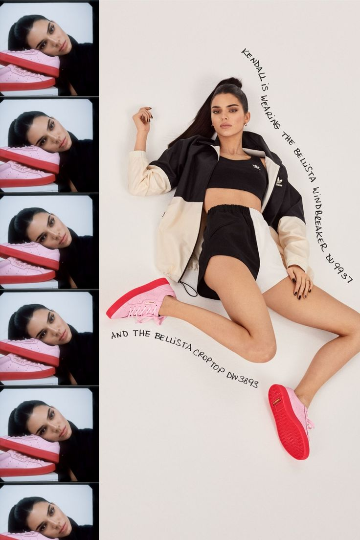 Leonn Ward Flashes Kendall Jenner In adidas Originals 2019 Sleek Sneaker Campaign