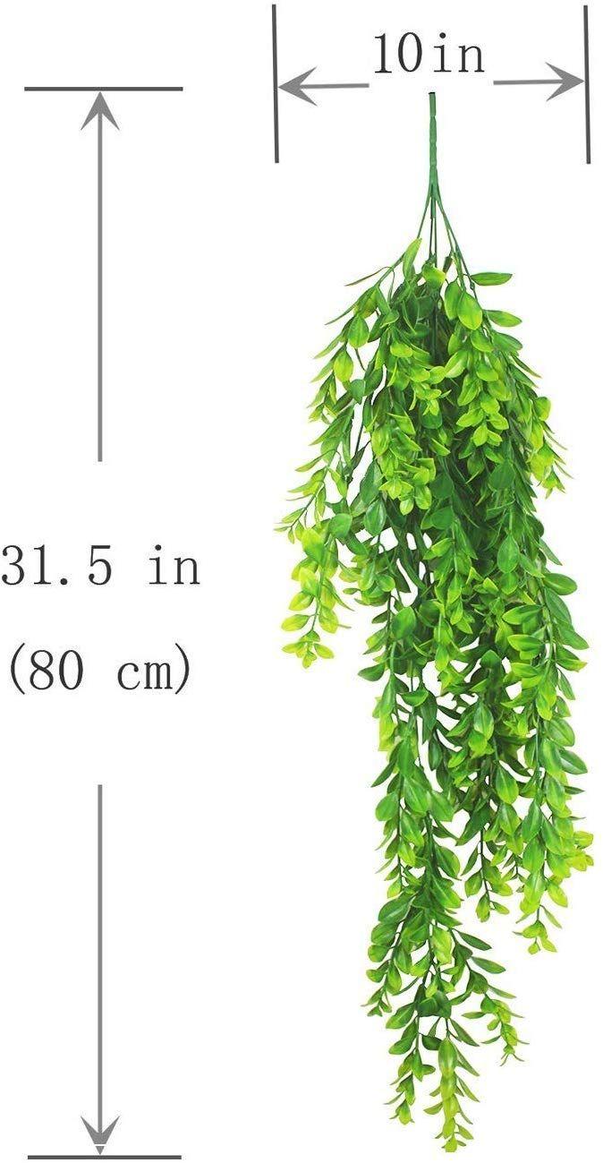 Amazon Com Wondejia Fake Plants 2pcs Artificial Hanging Plants