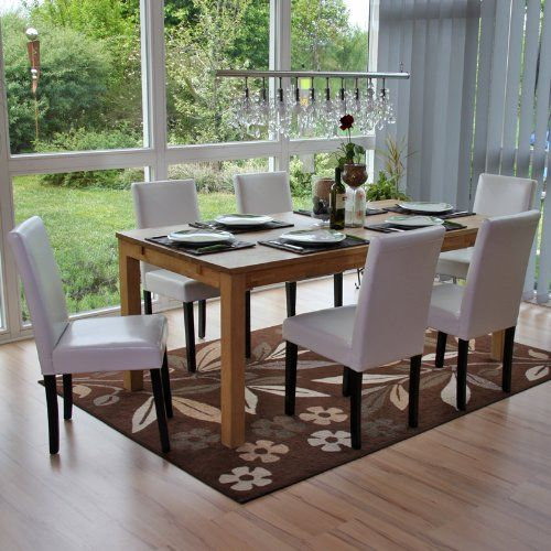 Set 6x sedie Littau pelle per sala da pranzo 43x56x90cm   http://www.mobilionline.info/shop/sala-da-pranzo/mobile-completo-da-sala-da-pranzo/set-6x-sedie-littau-pelle-per-sala-da-pranzo-43x56x90cm-bianco-piedi-scuri/ #saladapranzo #mobili #mobilecompleto #sedie