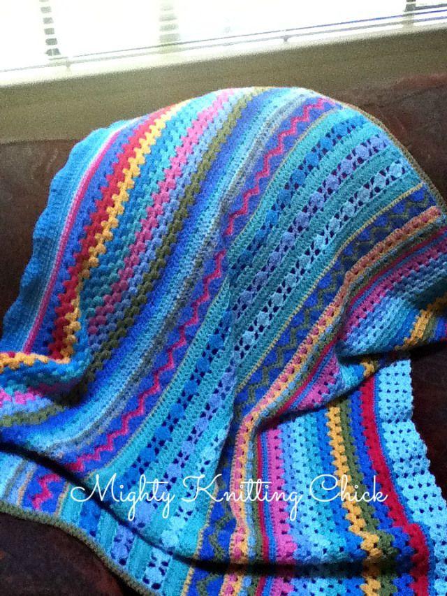 Free Crochet Pattern: Bumpy's Blankie By Sonia -(mightyknittingchick.wordpress)
