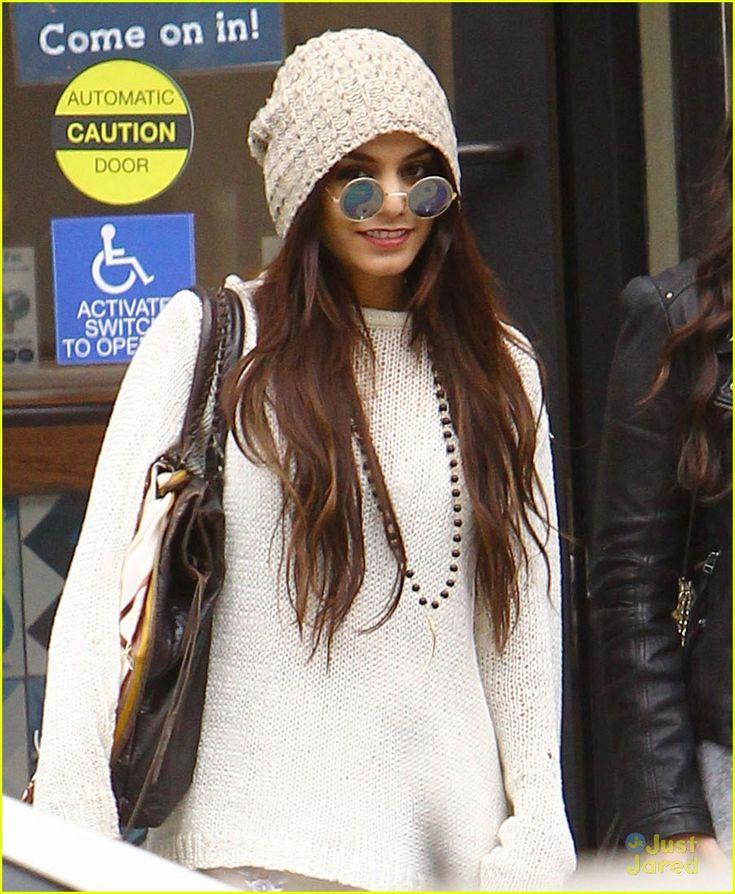 Vanessa Hudgens Wears Yoko Ono-Like Glasses While Shopping | vanessa hudgens boho style shopping 04 - Photo