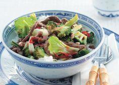 Recept voor Chinese biefstuk met broccoli, paksoi en oestersaus
